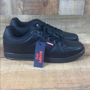 Levi's Mens Brinley Nappa UL Black Leather Shoes
